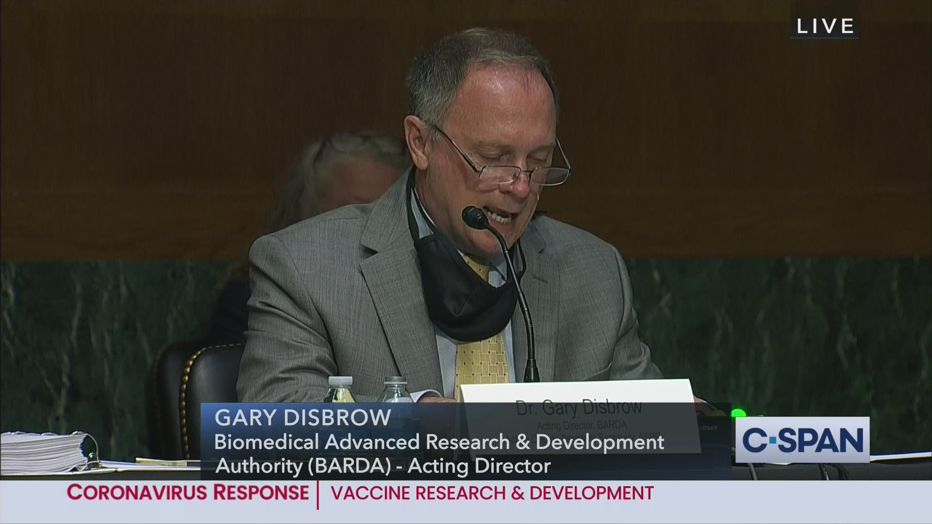 User Clip: Dr. Gary Disbrow, BARDA Acting Dir. Opening Remarks | C-SPAN.org