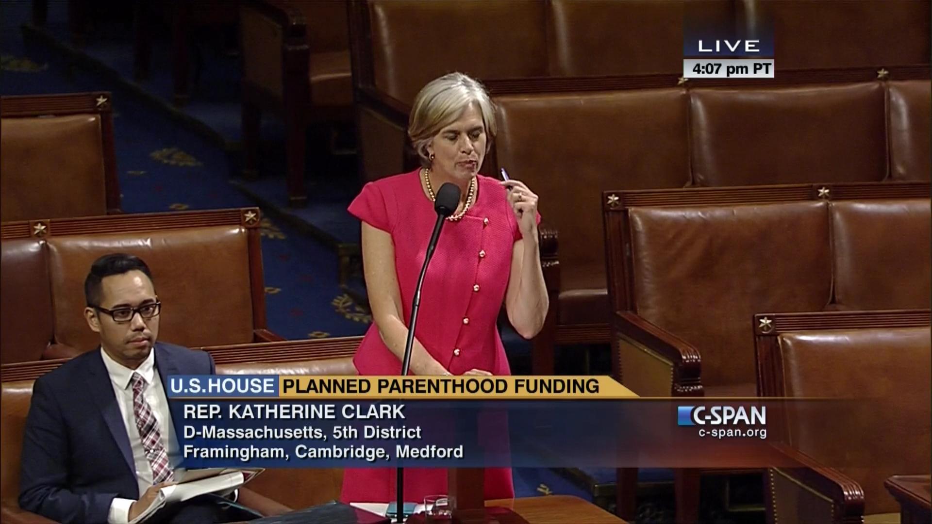 Congresswoman Katherine Clark on Planned Parenthood