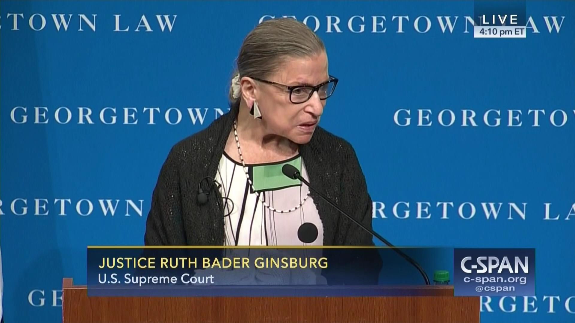 Justice Ruth Bader Ginsburg Addresses Georgetown Law Students, Sep 20 2017
