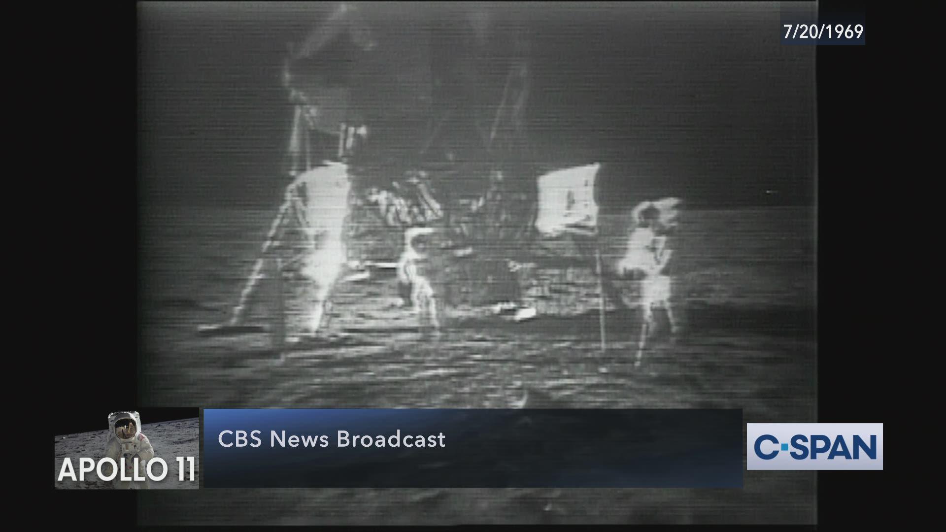 CBS Coverage of Apollo 11 Moonwalk
