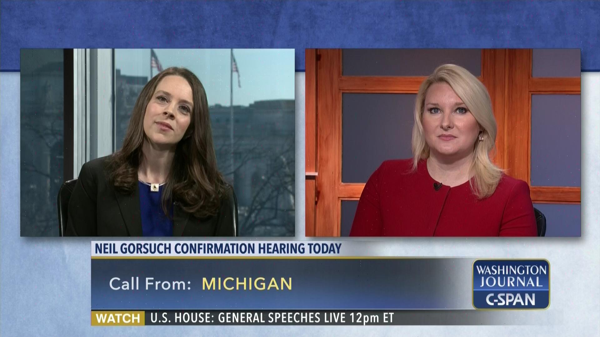Washington Journal Elizabeth Wydra Carrie Severino Discuss Supreme Court  Nominee