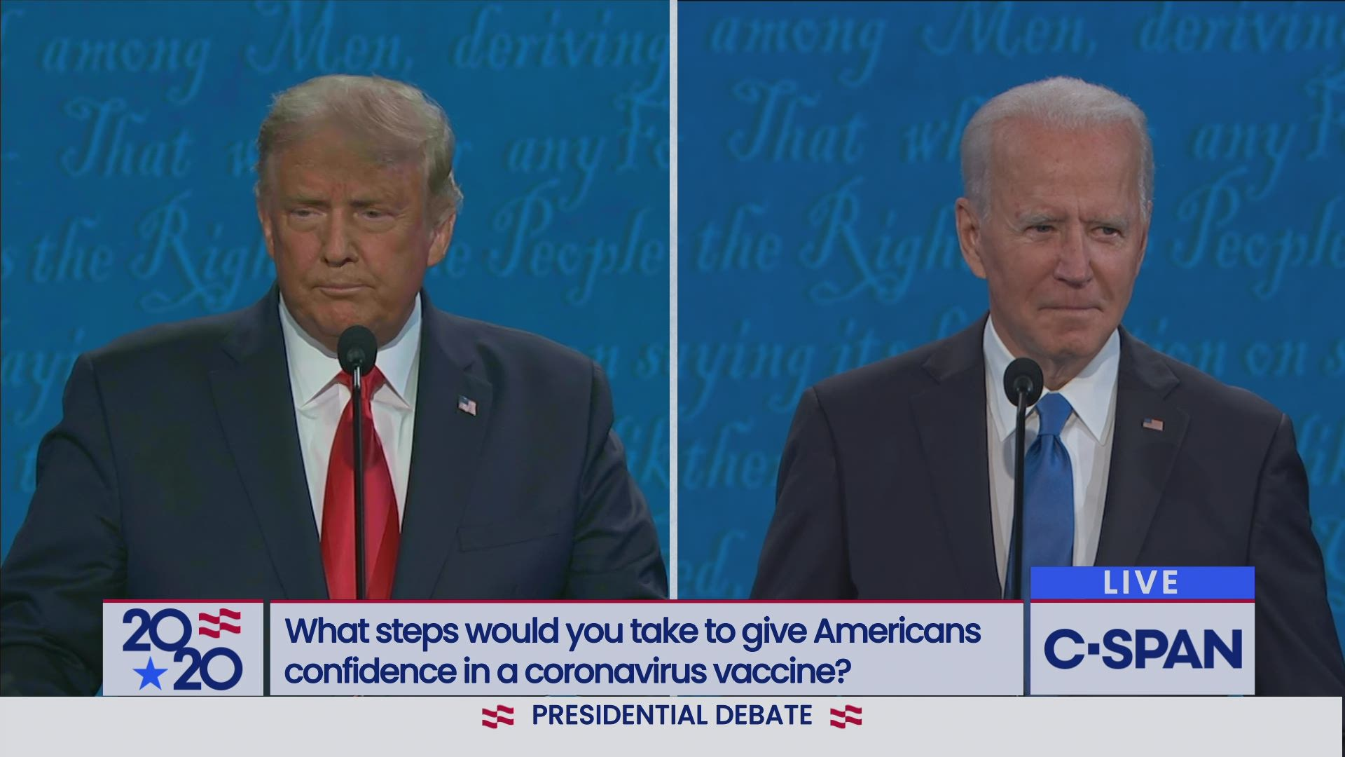 Trump Biden Second Debate C Span Org