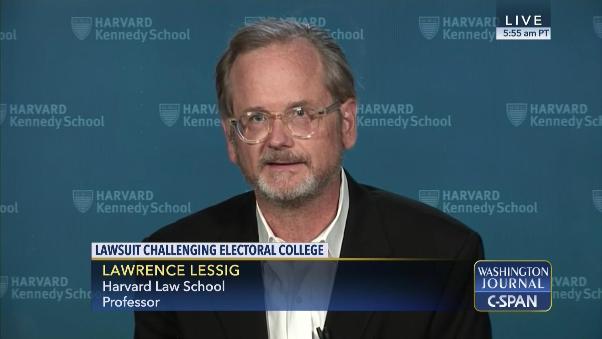 Lawrence Lessig on Legal Challenges to the Electoral College