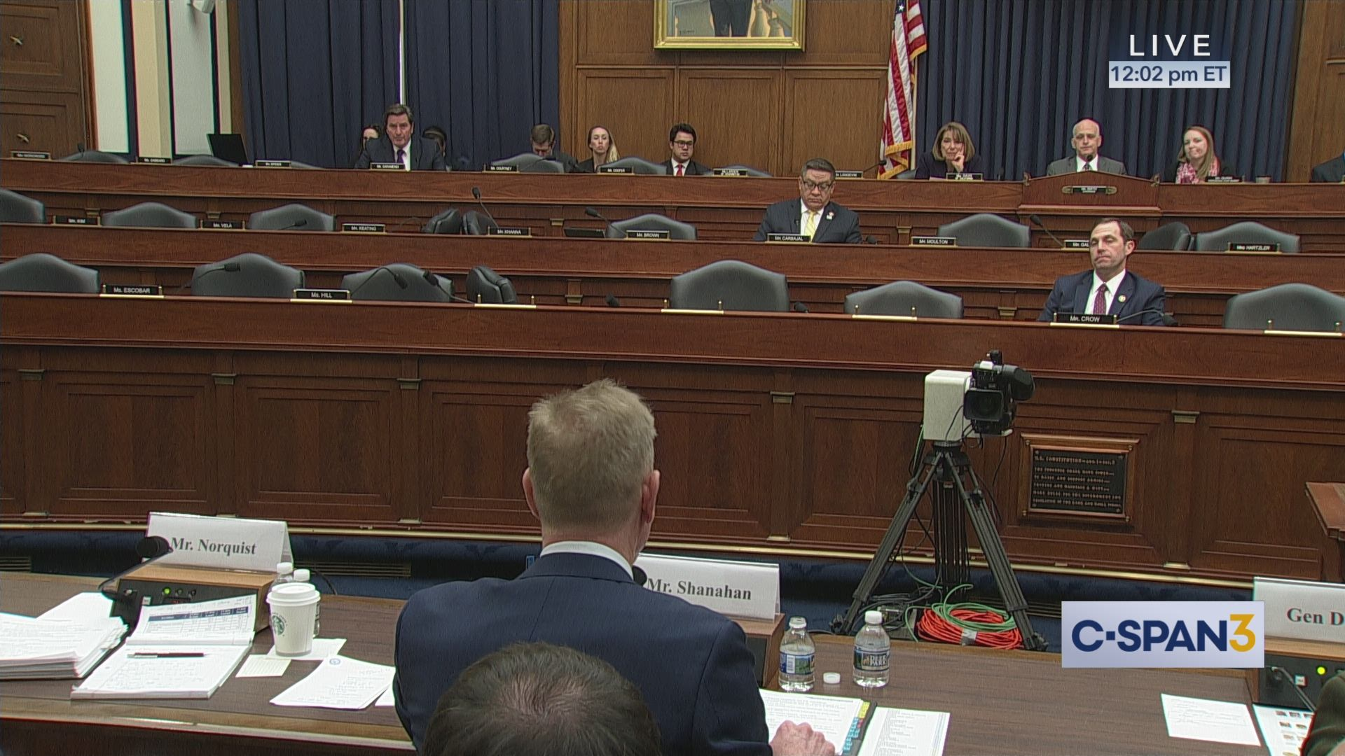 Rep  Garamendi Questions Acting Secretary of Defense Patrick Shanahan