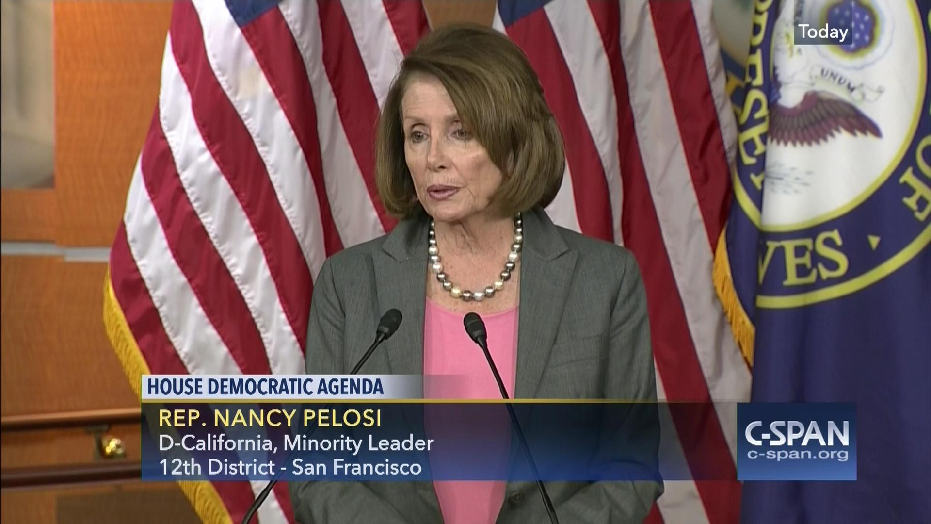 house minority leader nancy pelosi briefs reporters, dec 2 2016