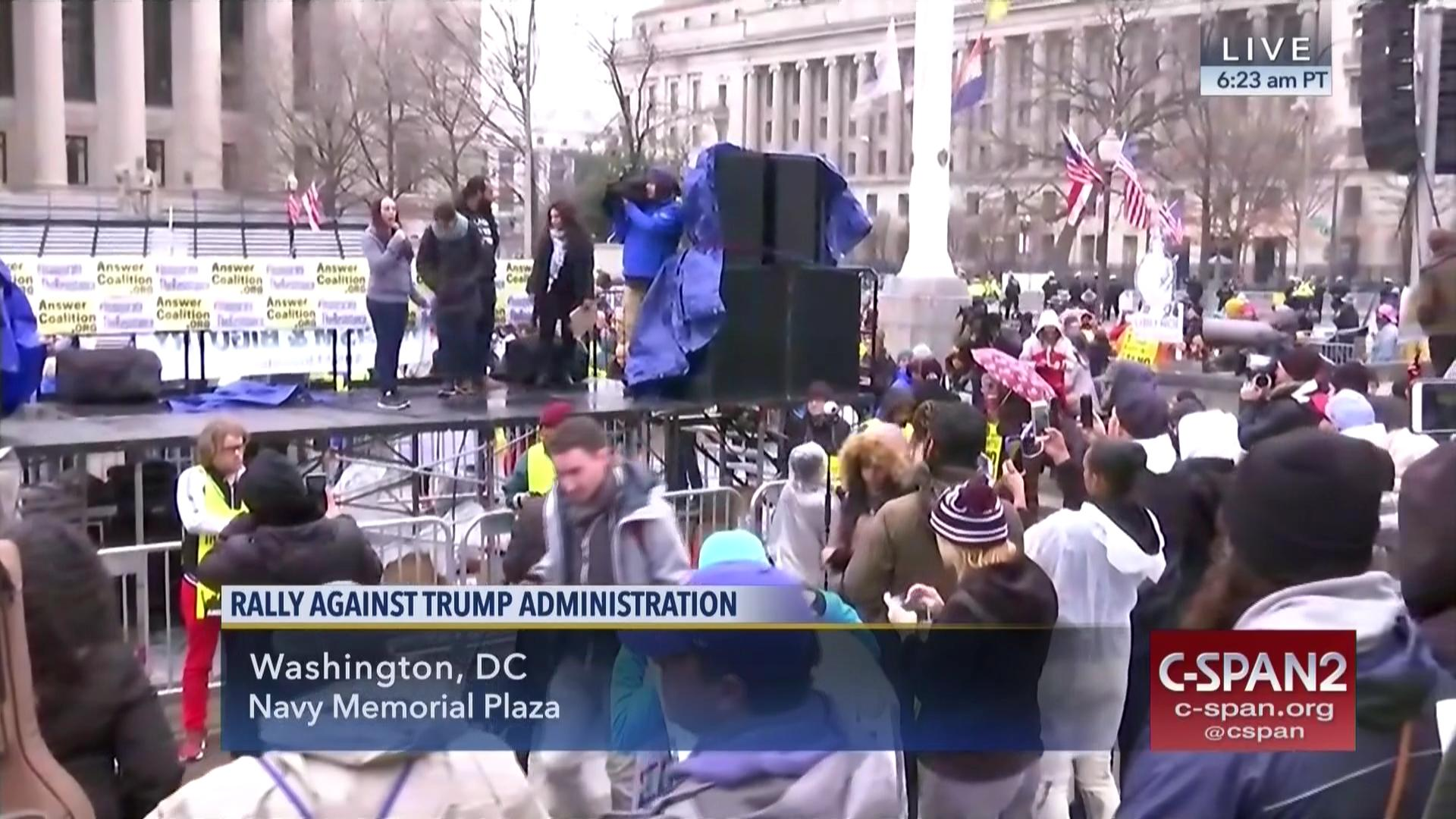 answer coalition holds protest rally video c span org