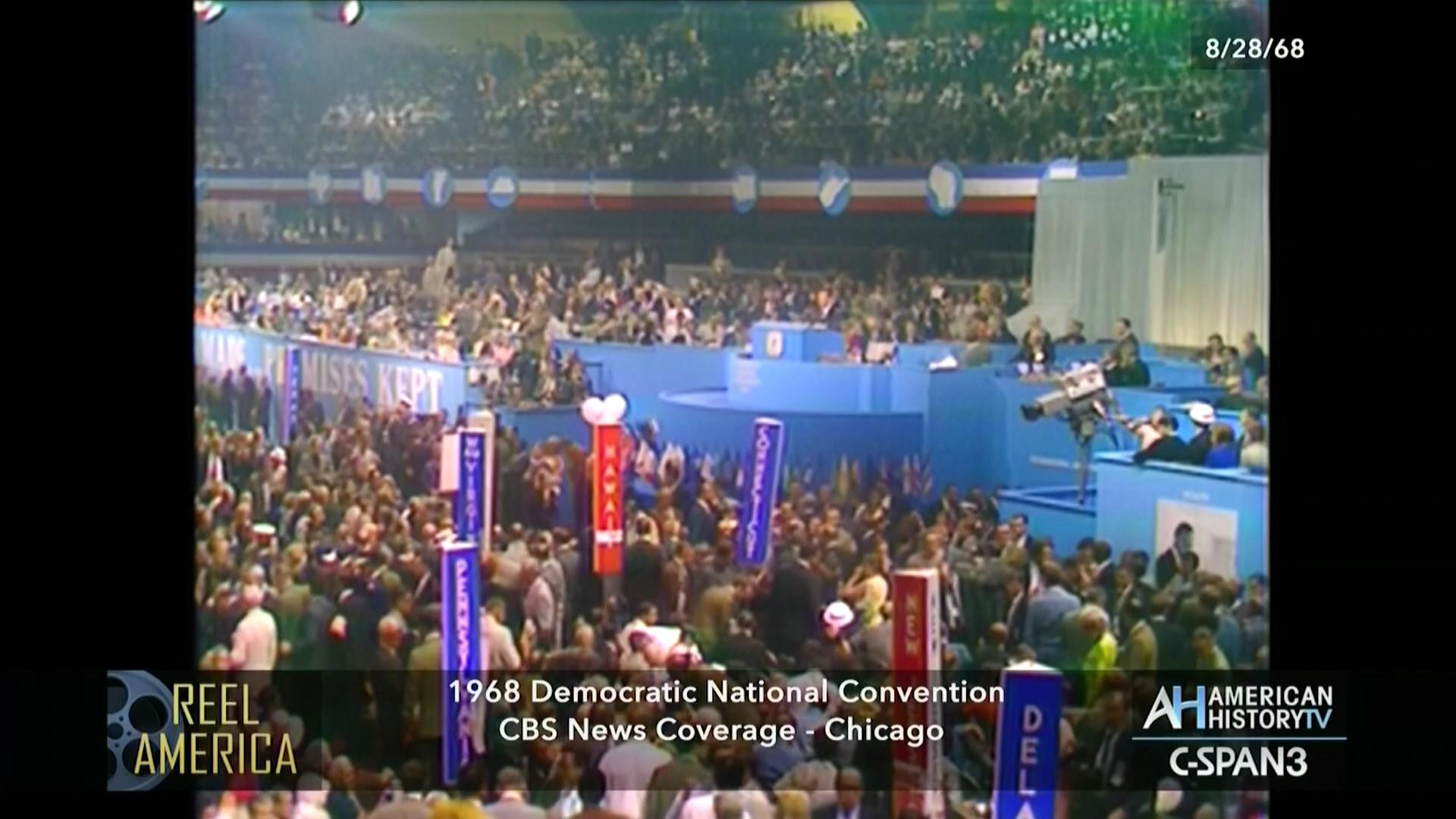 CBS News 1968 Democratic National Convention Coverage Aug 28