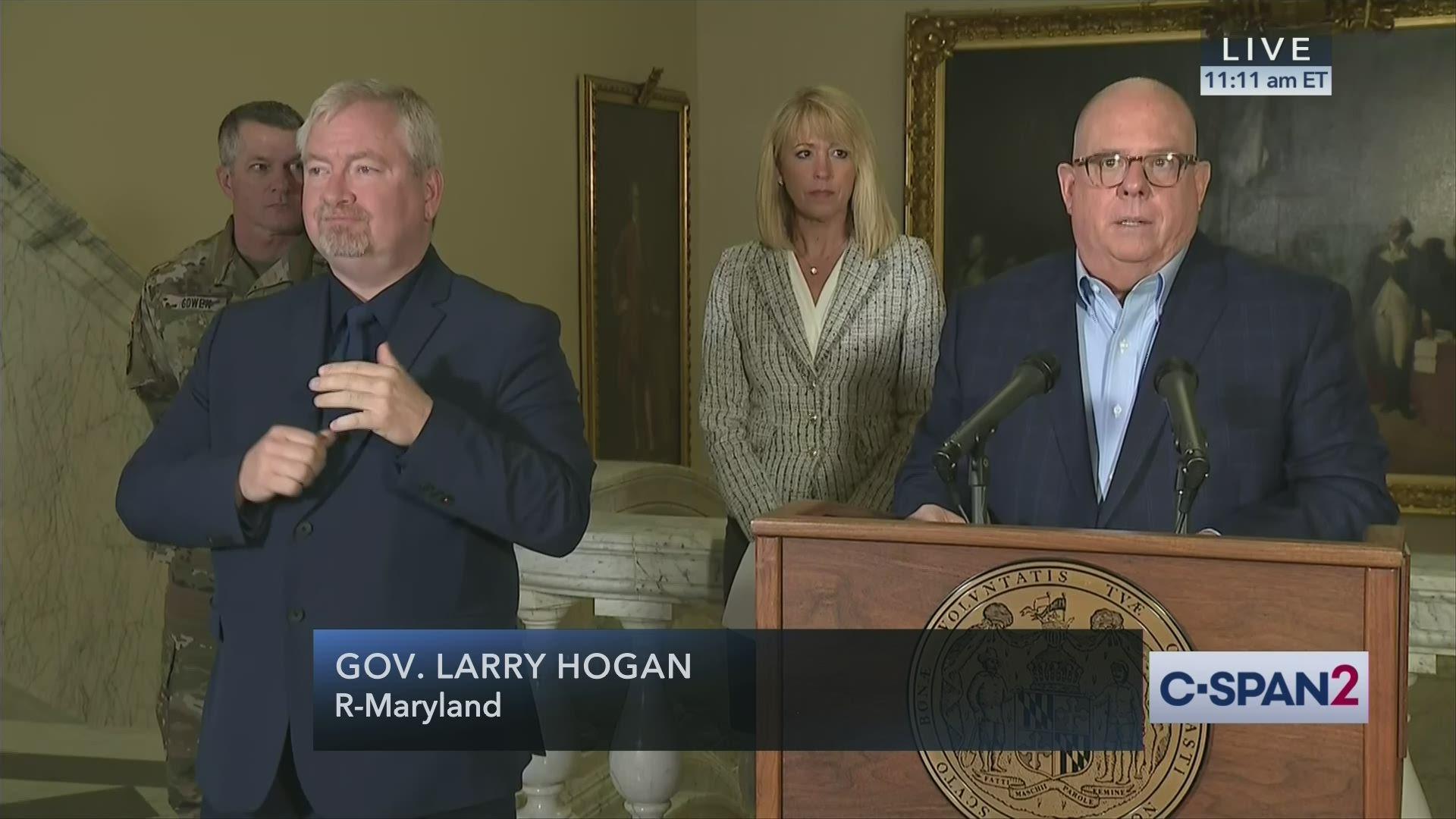 Maryland Governor Hogan Coronavirus News Conference
