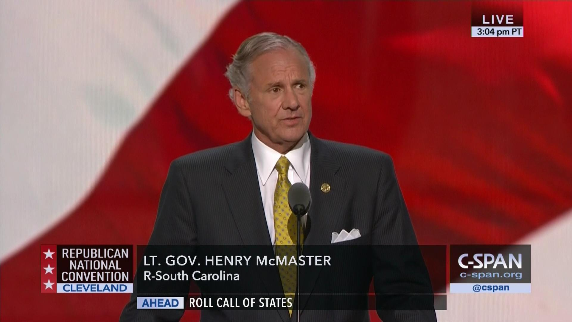 Image result for photos of South Carolina Gov. Henry McMaster,