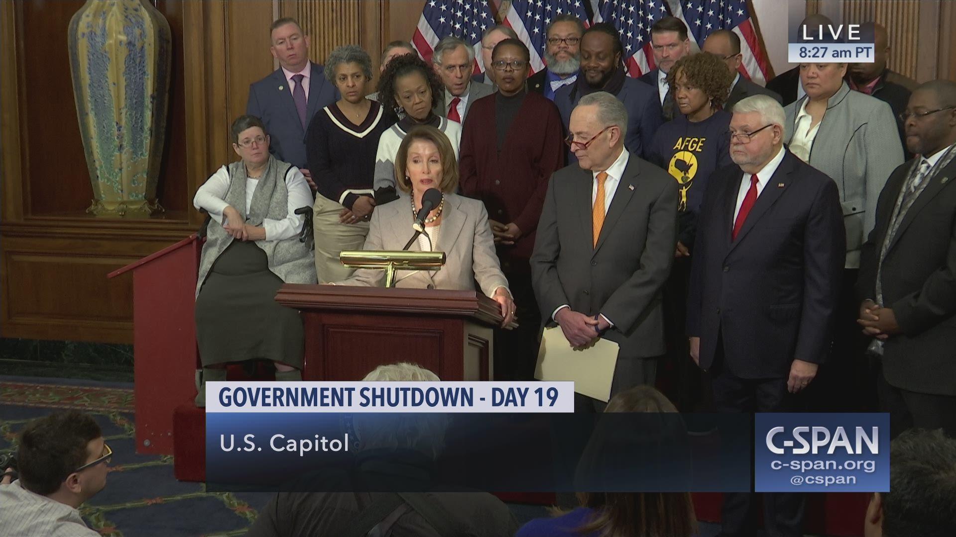 Speaker Pelosi and Minority Leader Schumer on Government Shutdown