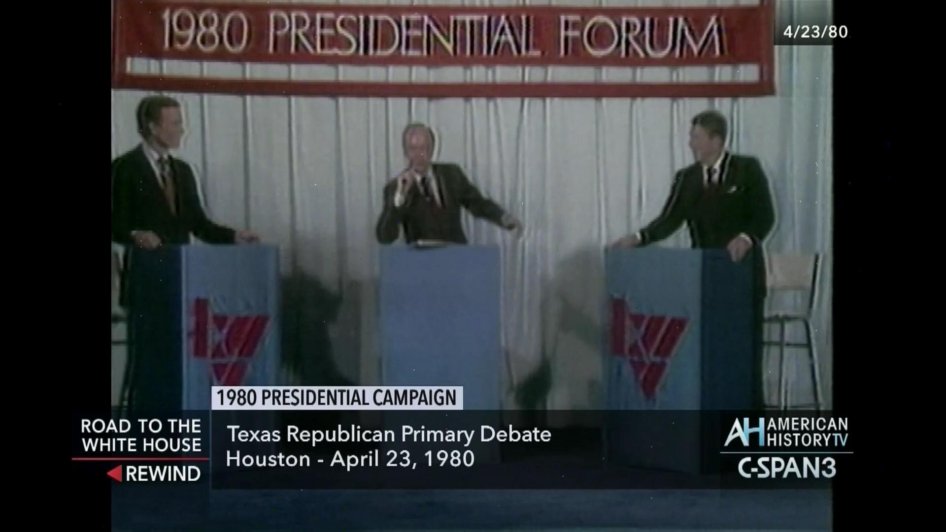 1980 Republican Presidential Candidates Debate Apr 23