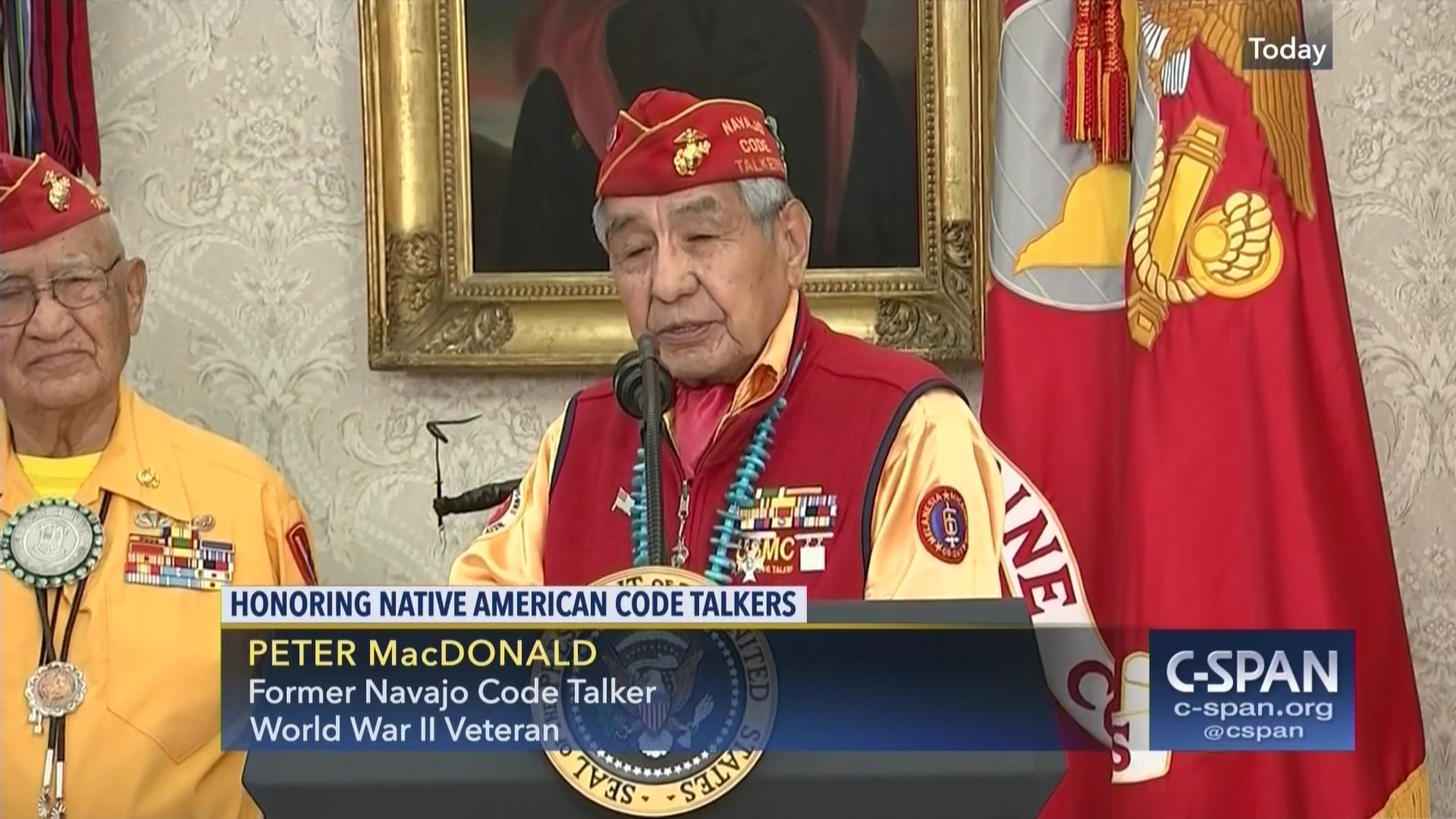 peter macdonald s american dream story navajo code talkers