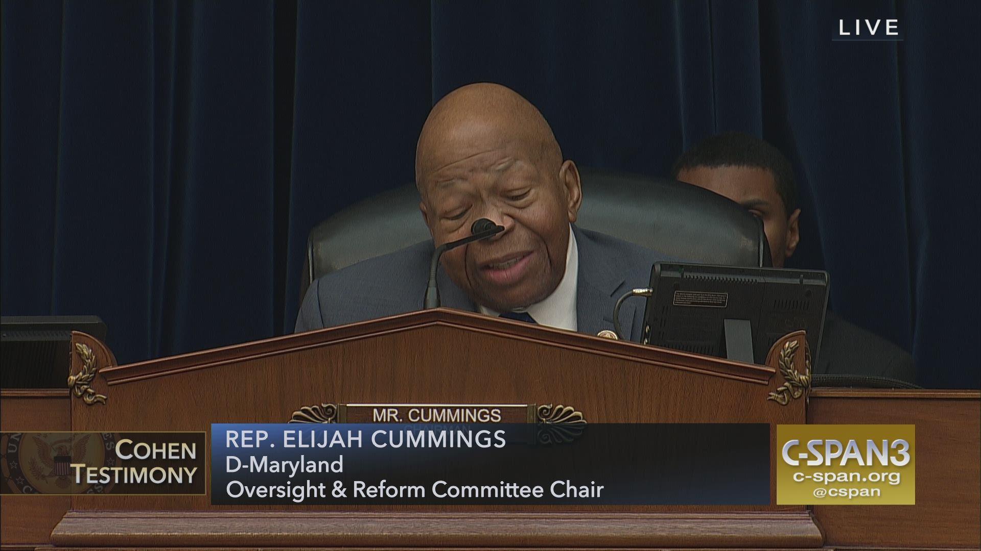 62eafd6e Elijah Cummings' Closing Remarks | C-SPAN.org