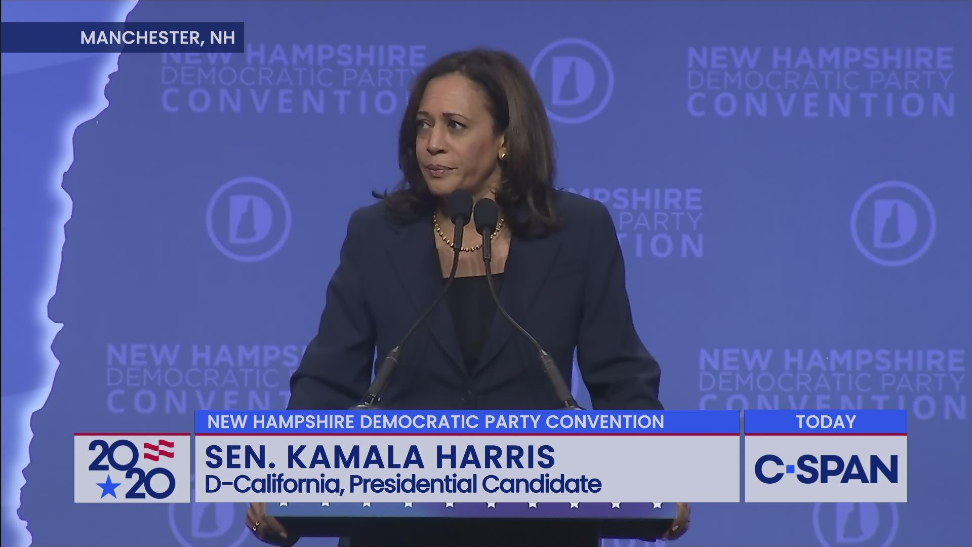Senator Harris At New Hampshire Democratic Party Convention C Span Org