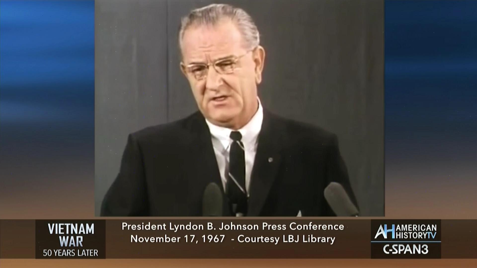 President Johnson on the Vietnam War