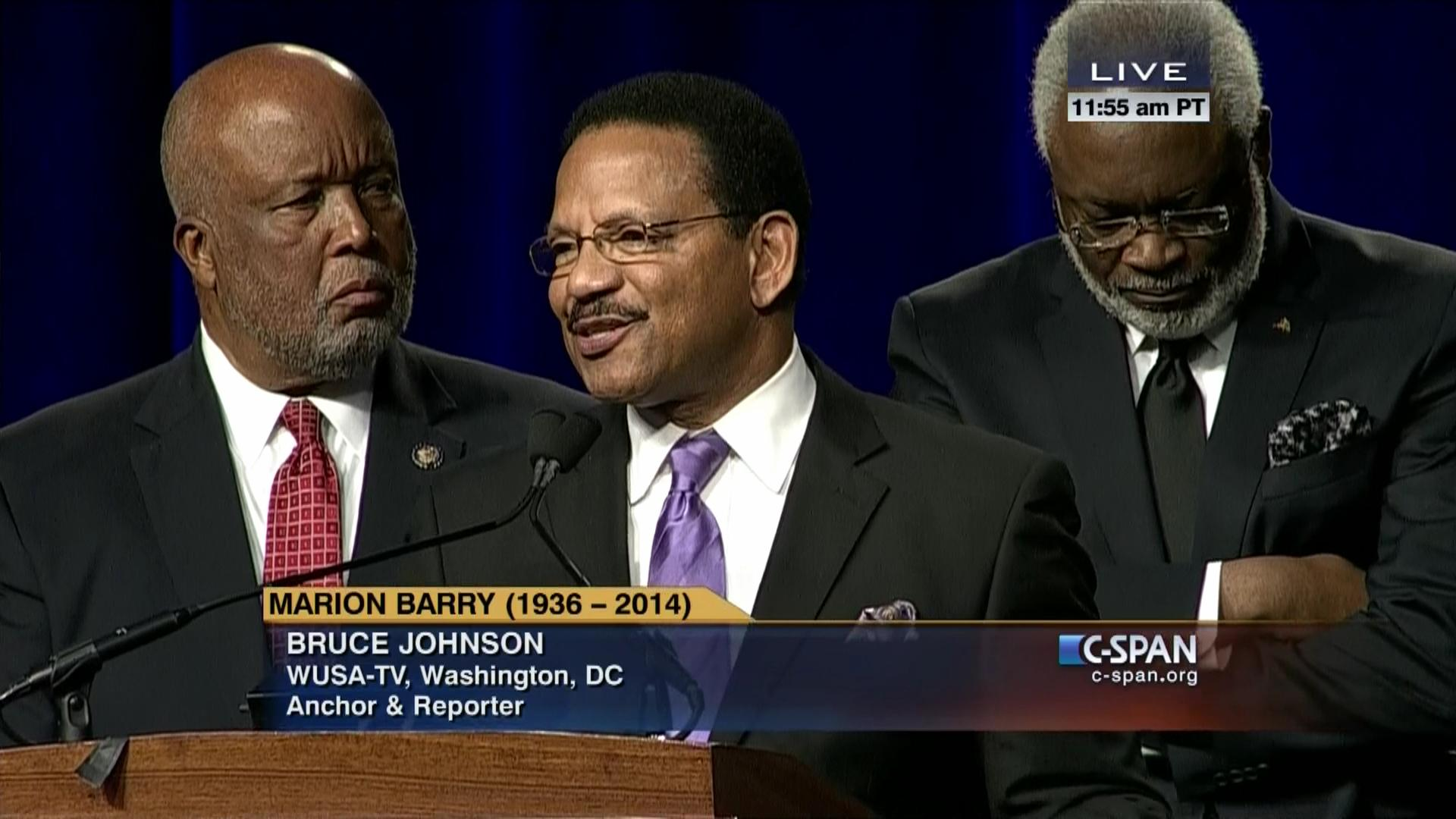 Bruce Johnson at Marion Barry funeral