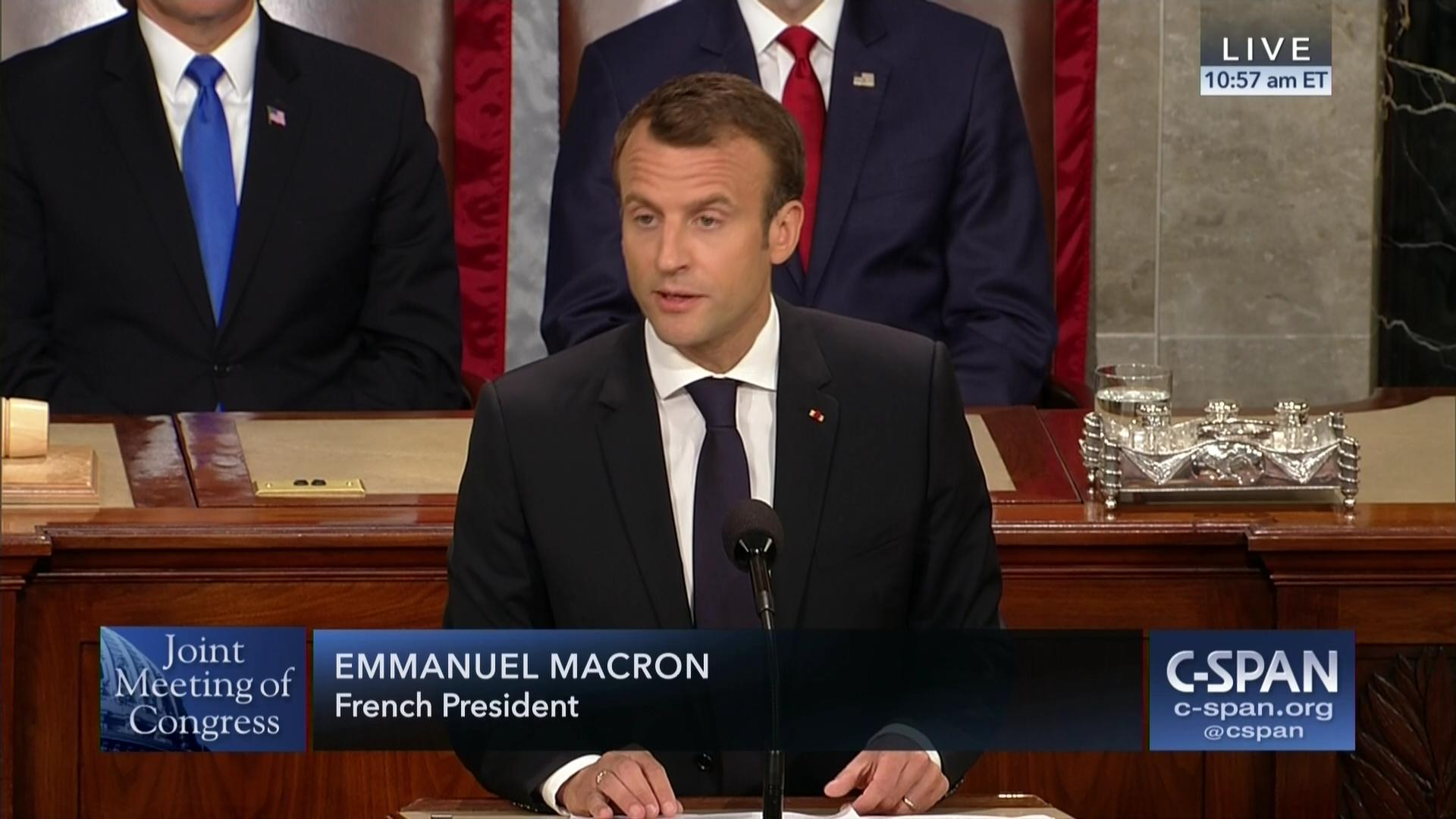 Emmanuel Macron Address To Joint Meeting Of Congress C Span Org