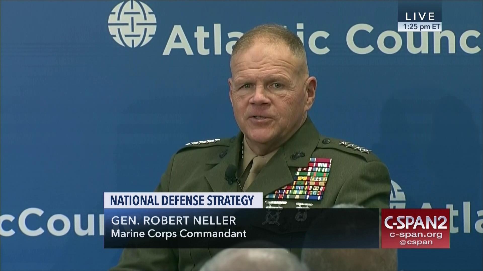 Marine Commandant Neller Discusses National Defense Strategy Mar 29
