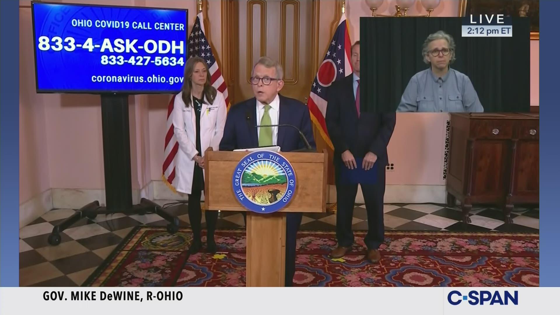 Ohio Governor Dewine Coronavirus News Conference C Span Org