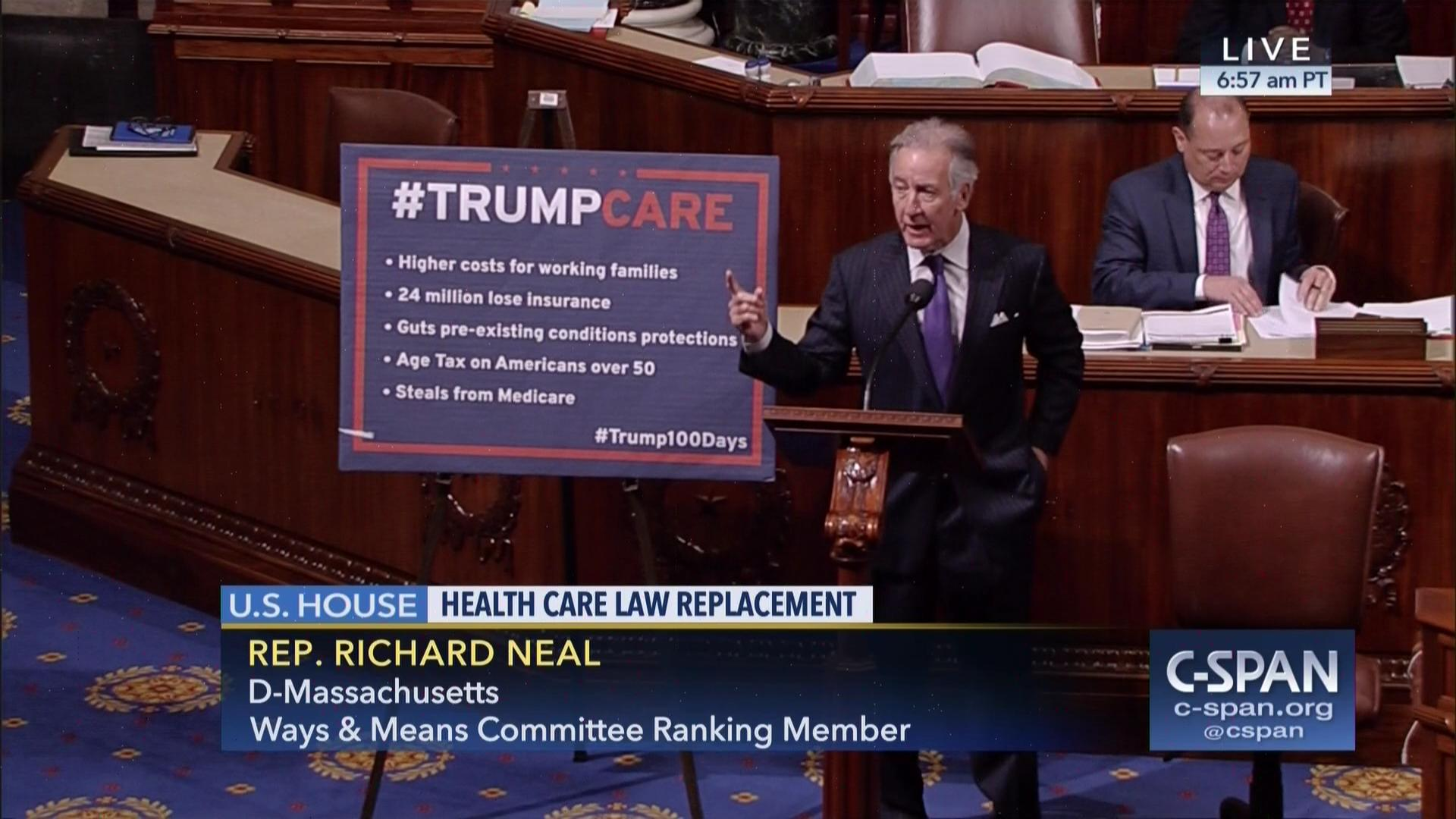 Experts Trumpcare Places Autism >> Ranking Member Neal On Health Care Replacement Bill C Span Org