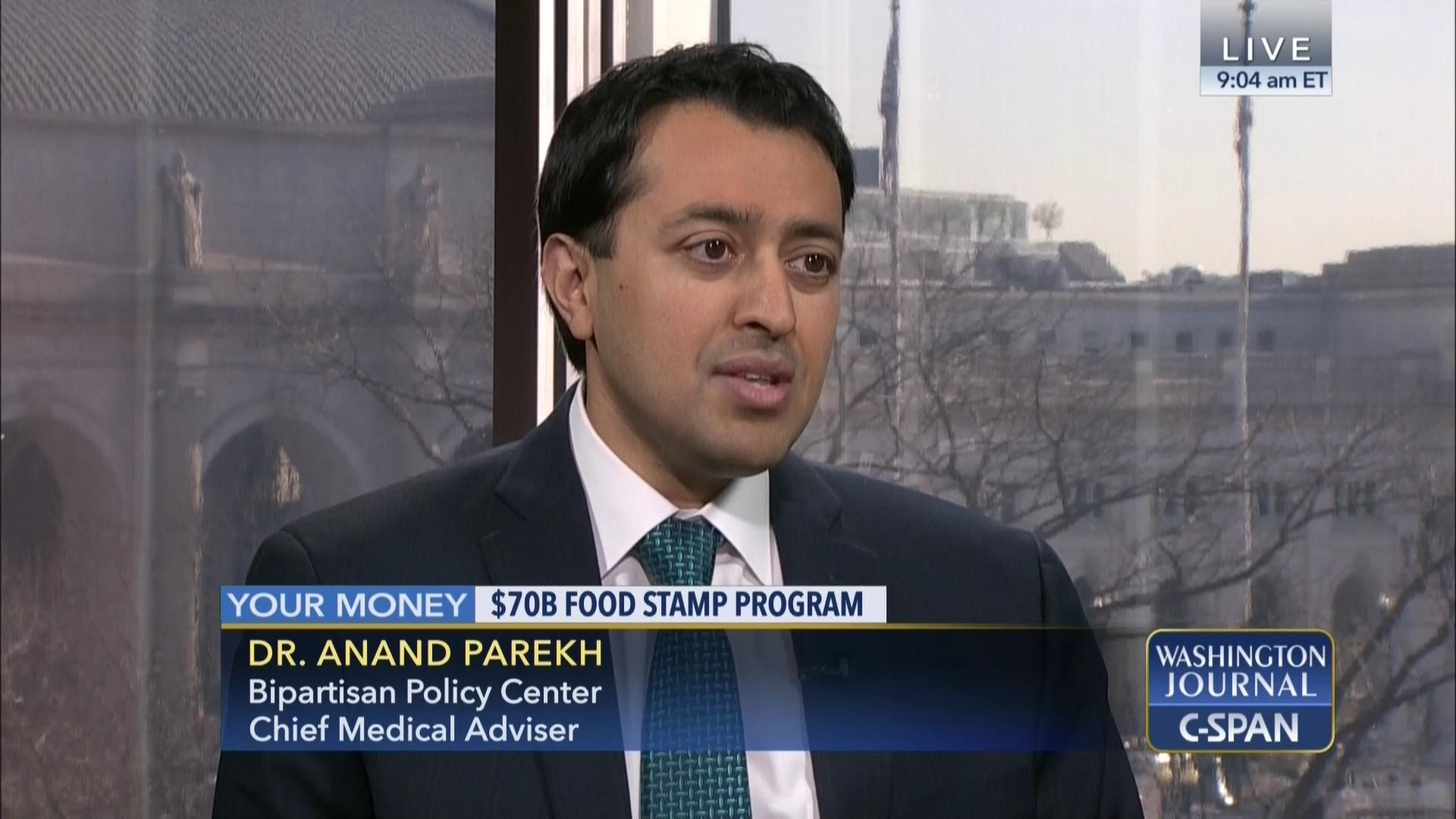 Dr Anand Parekh On The Food Stamp Program C Span Org
