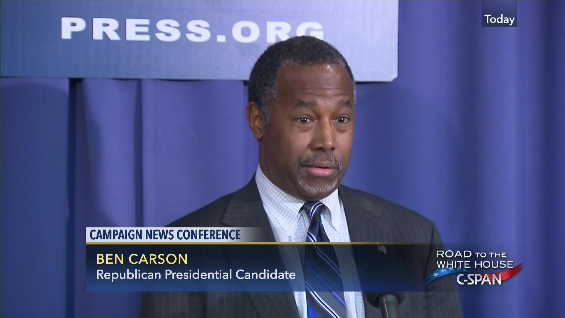 Dr Ben Carson News Conference Feb 3 Video