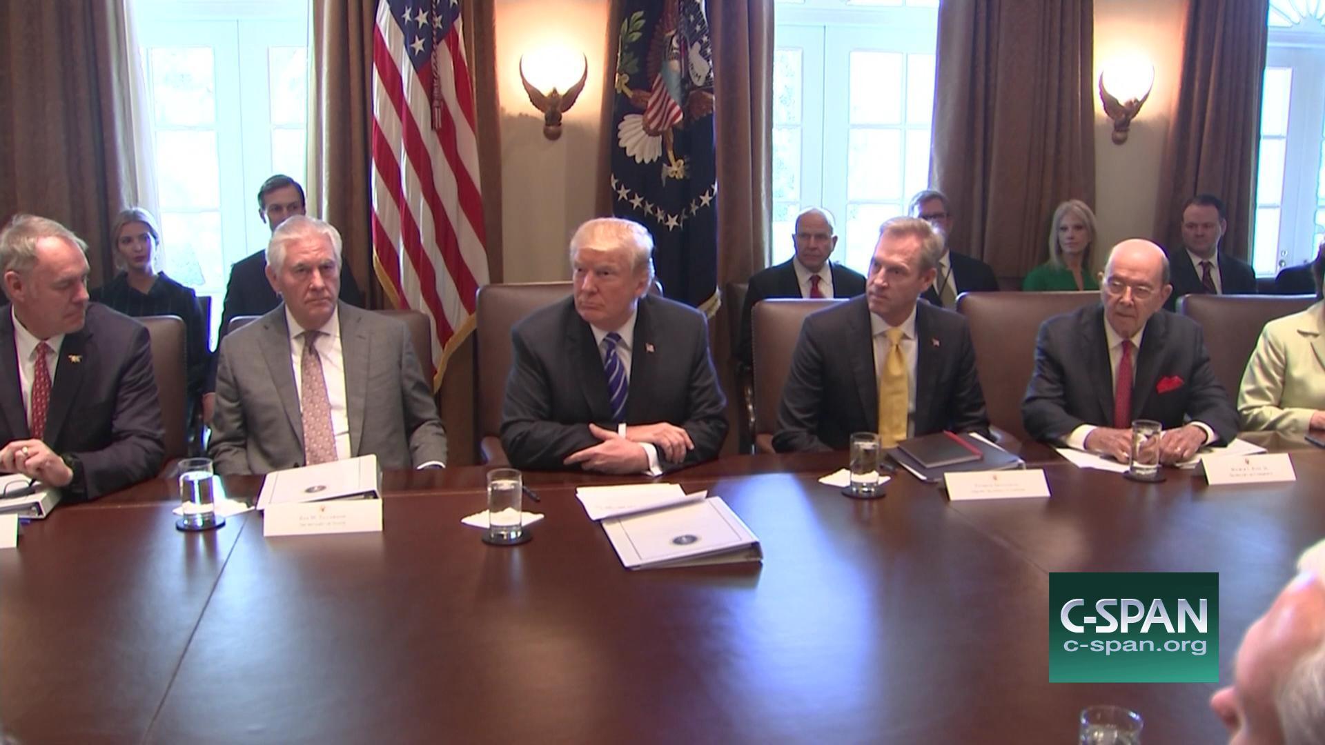 President Trump Cabinet Meeting