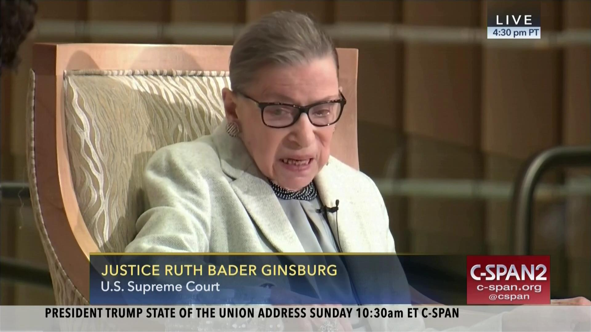 User Clip Justice Ginsburg On Jewish Influence C Span Org