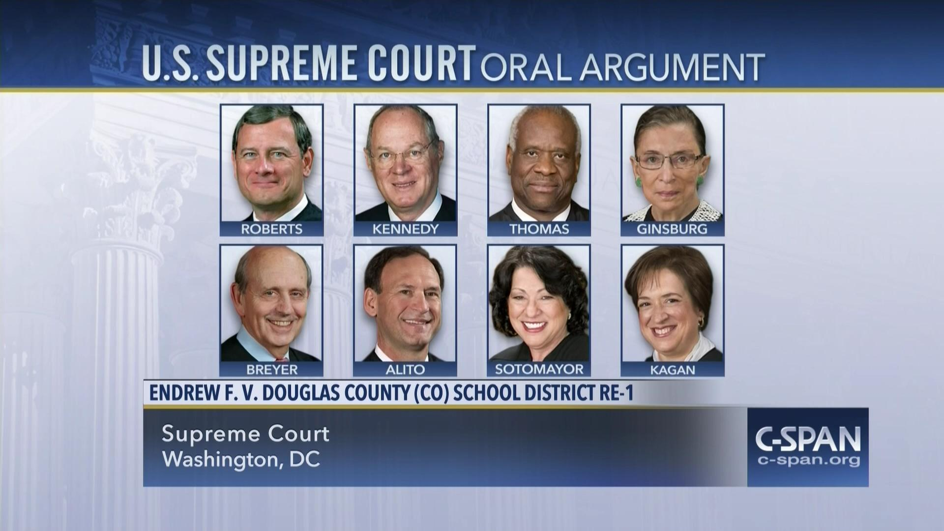 Who Won Endrew F >> Endrew F V Douglas City School District Oral Argument C Span Org