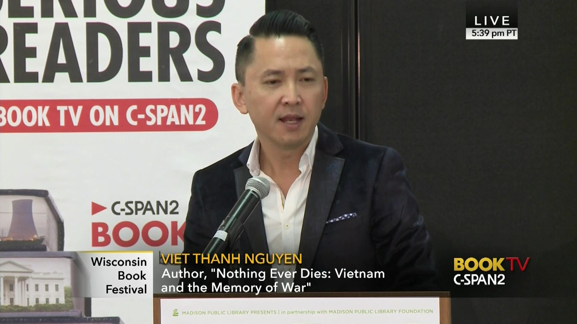 viet thanh nguyen discusses nothing ever dies video c span org