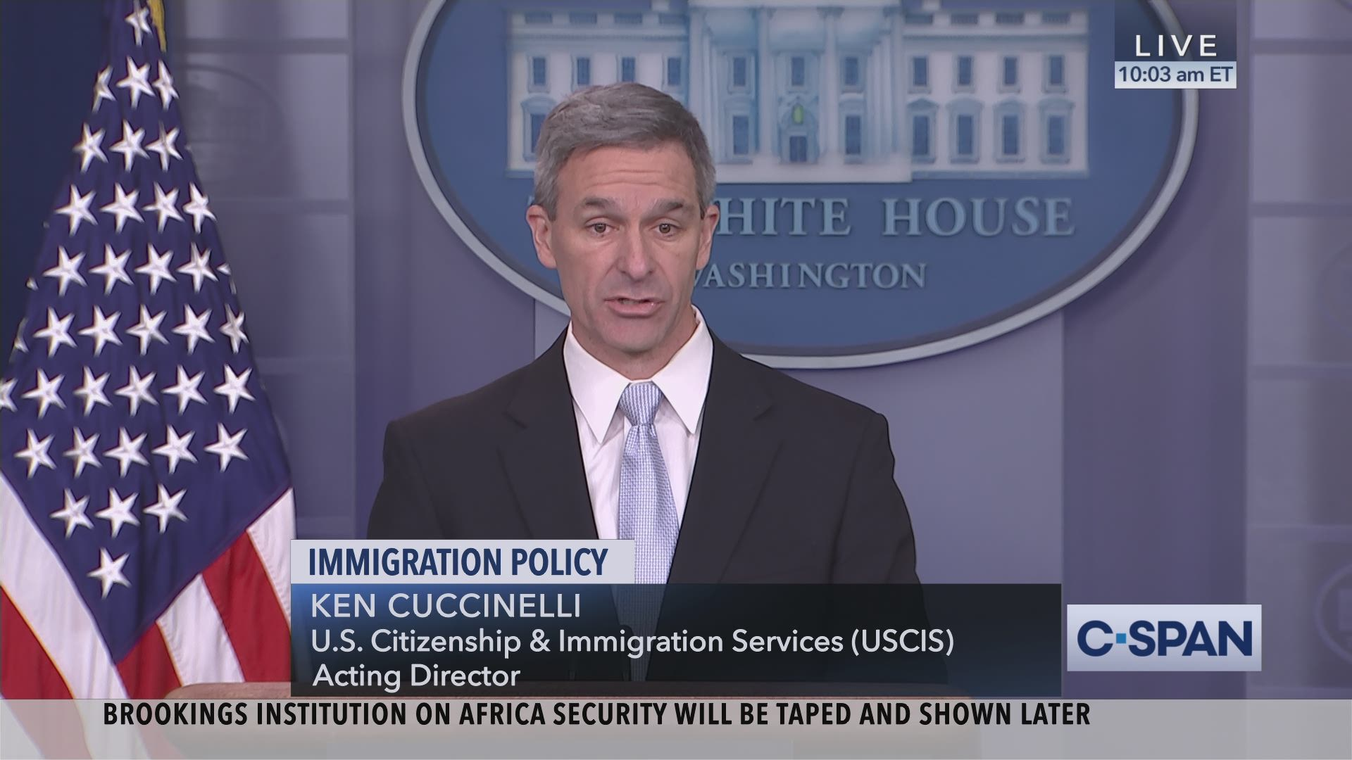 U S  Citizenship and Immigration Services Acting Director News Conference