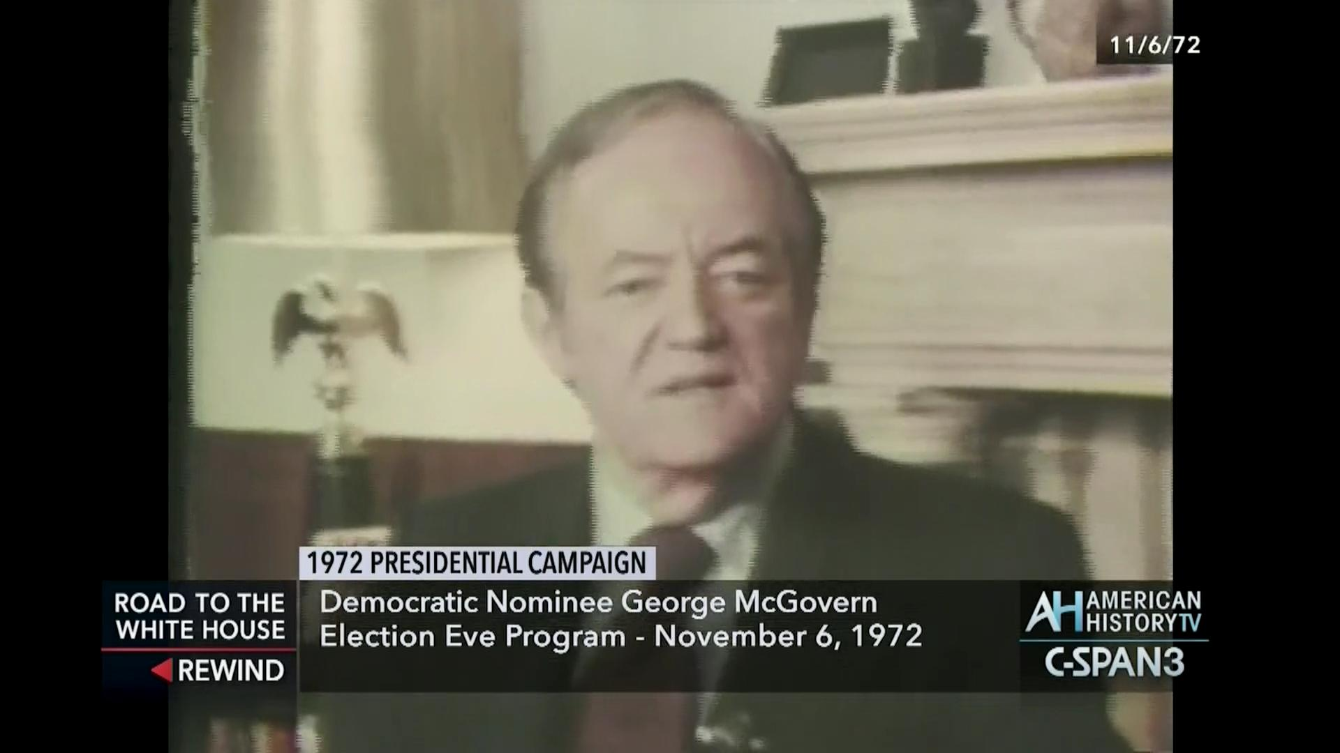 Mcgovern 1972 election eve program c span org