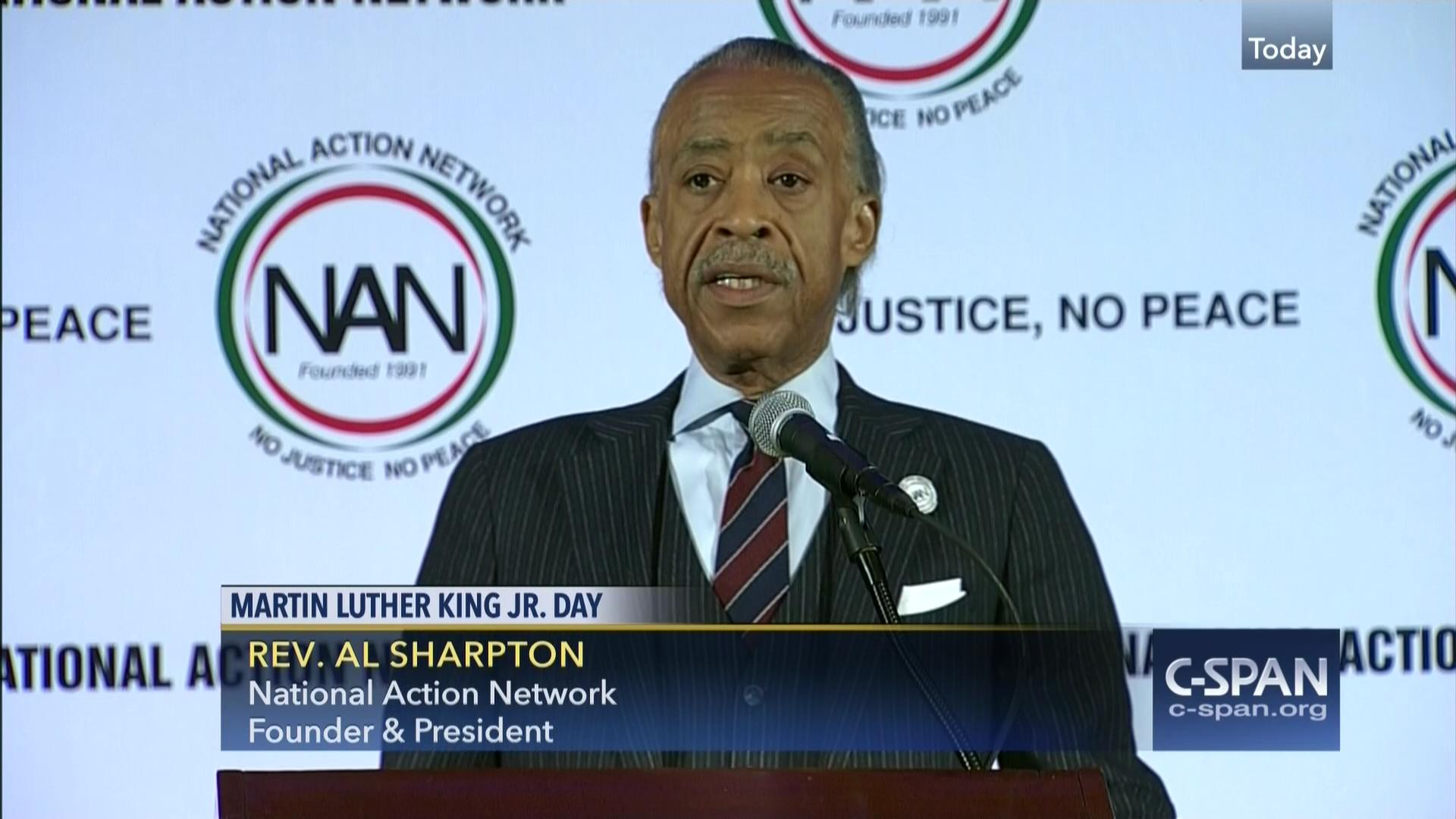 National Action Network Hosts Martin Luther King Jr Day Breakfast | C-SPAN.org