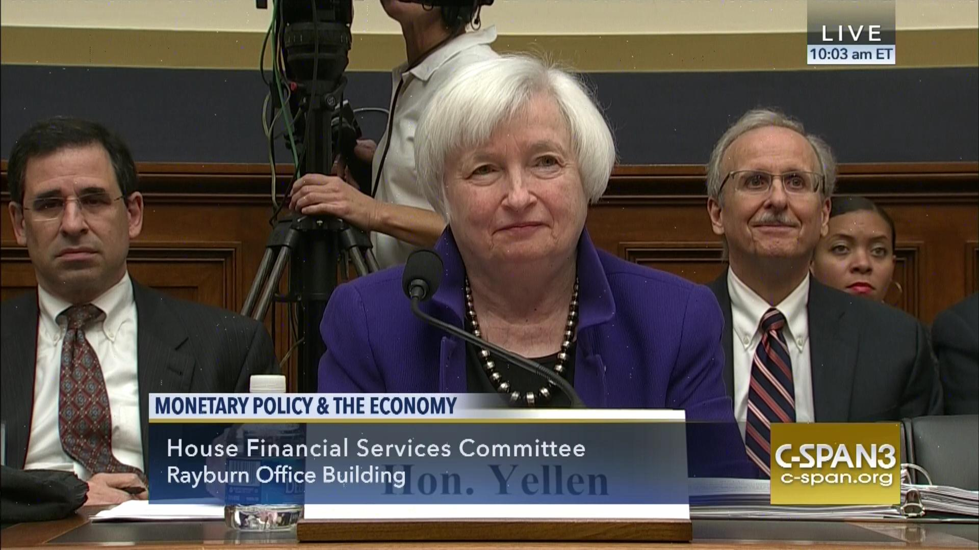 federal reserve chair janet yellen testifies oversight operations