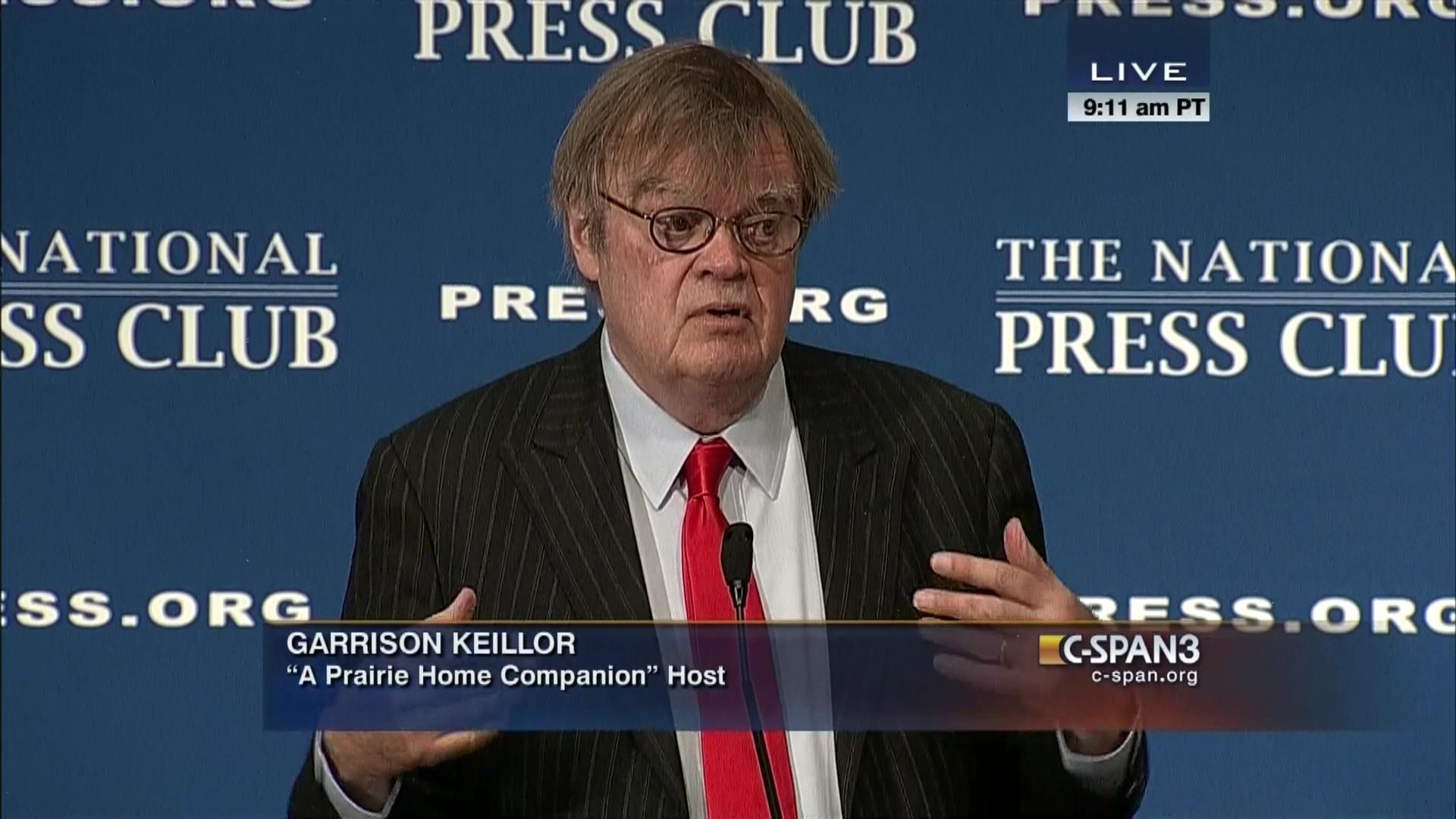 Garrison Keillor At The National Press Club C Span Org