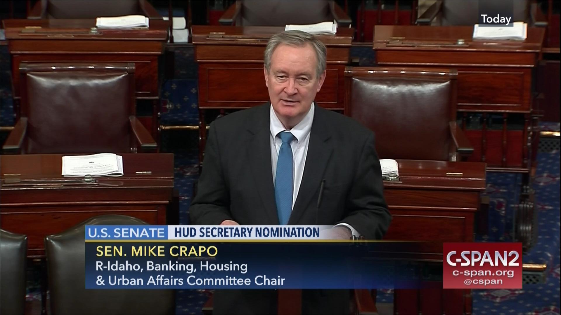 senator crapo housing urban development secretary, mar 1 2017 | c