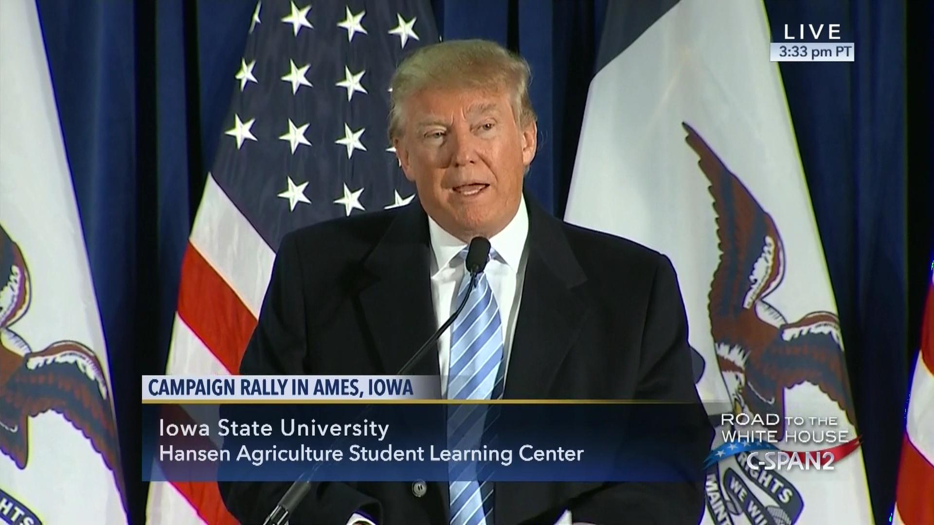 donald trump remarks liberty university jan 18 2016 video c