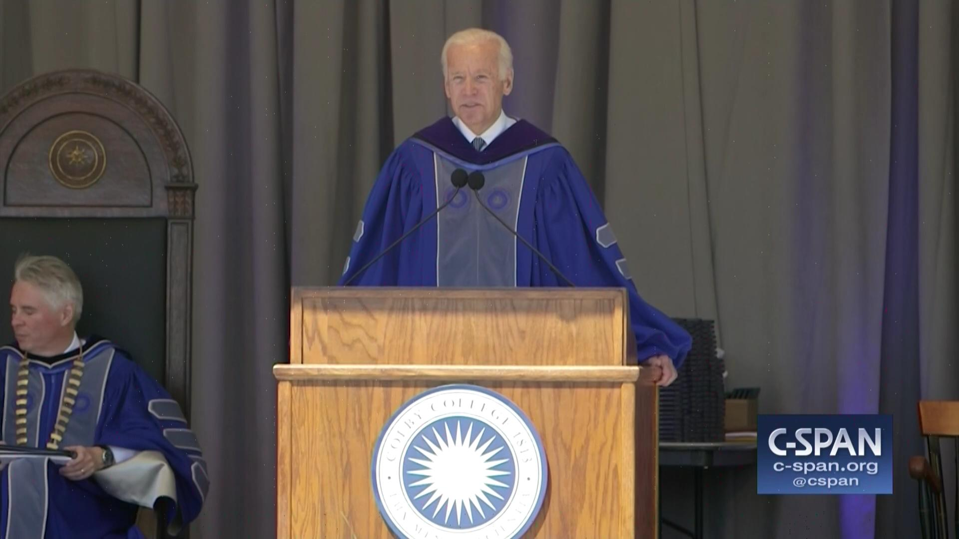 Vice President Biden Delivers Colby College Commencement Address, May 21  2017