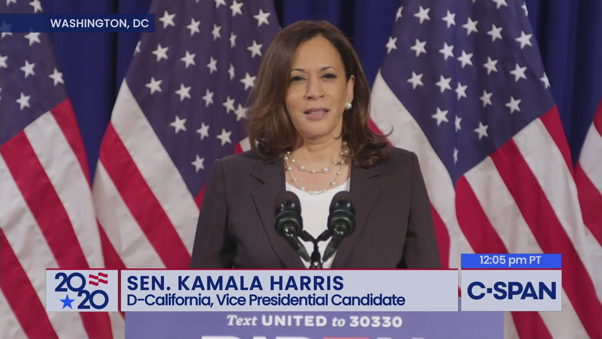 Senator Kamala Harris Remarks On Covid 19 And The Economy C Span Org