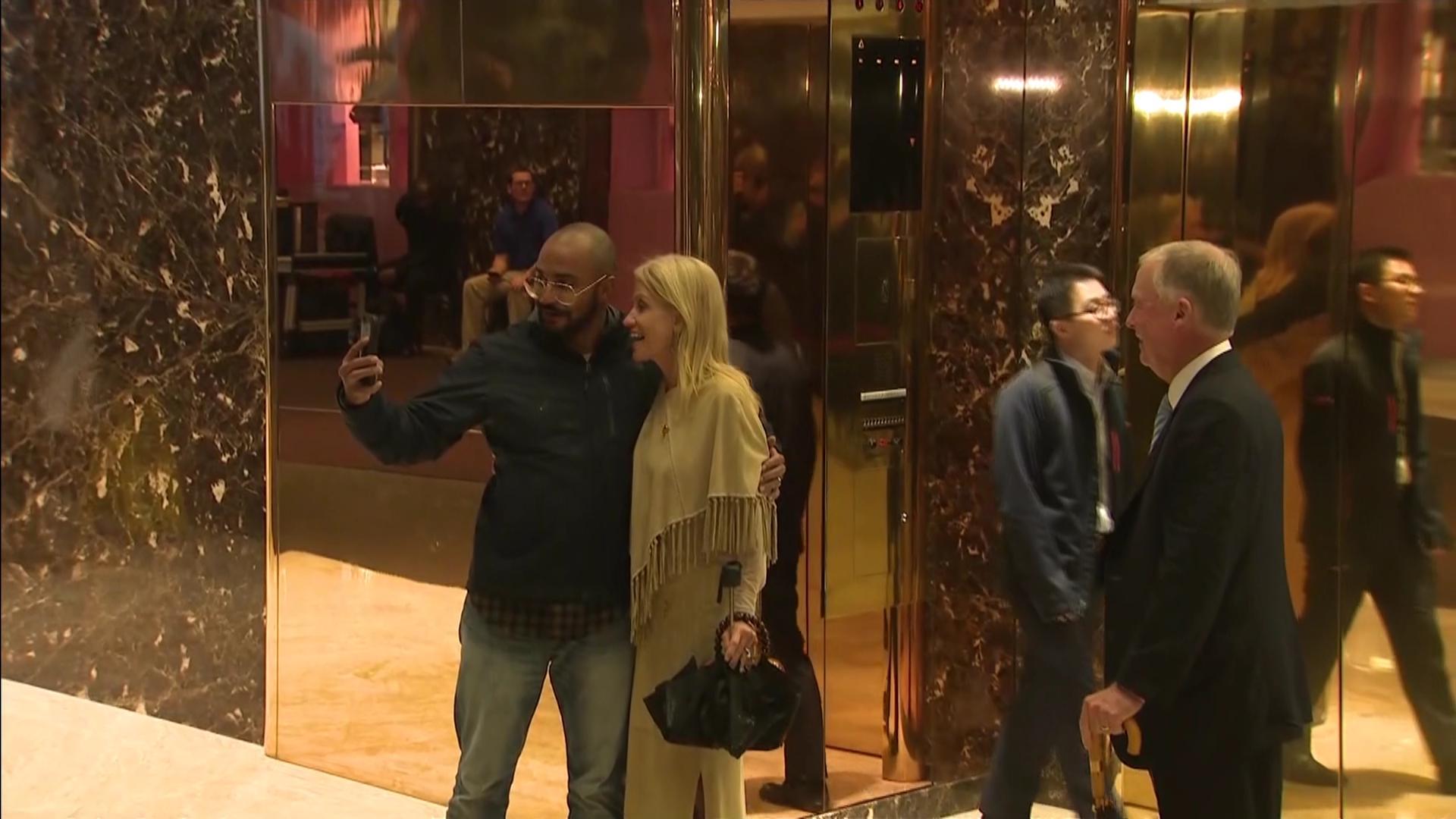 Pool Feed Trump Tower Lobby, Nov 29 2016   Video   C-SPAN.org