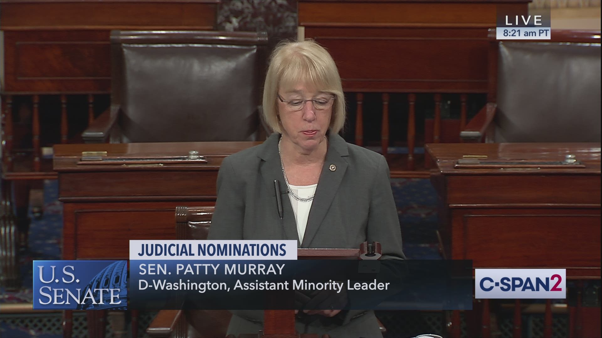 Senate Calendar December 2020 And Defense Nomintions Sen Patty Murray on AL Pro Life Bill and Wendy Vitter | C SPAN.org