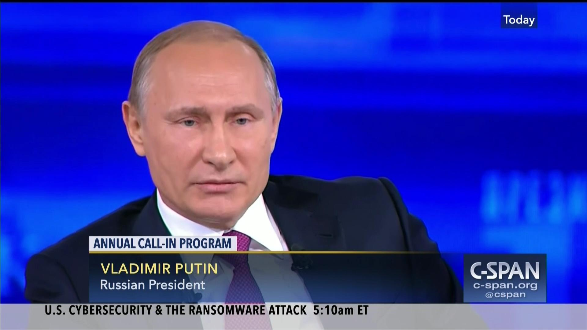 Russian President Putin S Annual Call In Program C Span Org