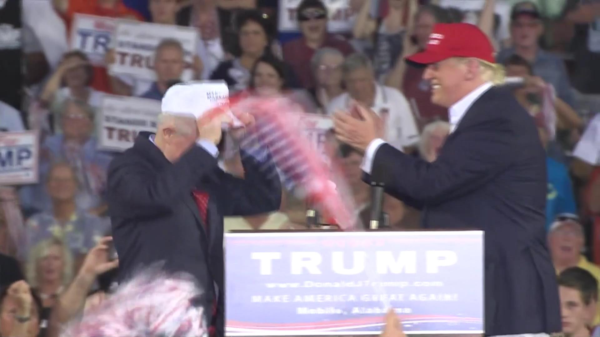 Jeff sessions r al speaks at donald trump rally wears
