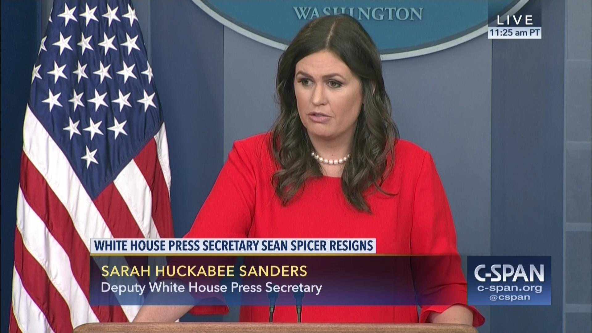White House Briefs Reporters Sean Spicer Resignation Jul 21 2017