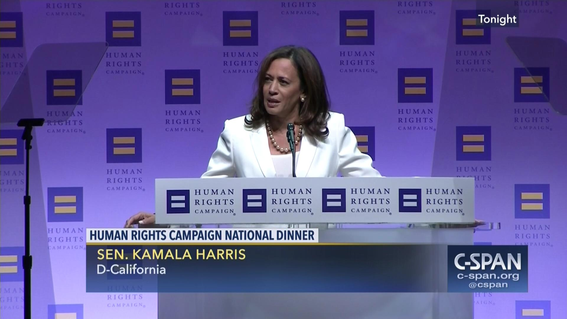 Senator Kamala Harris At Human Rights Campaign National Dinner C Span Org