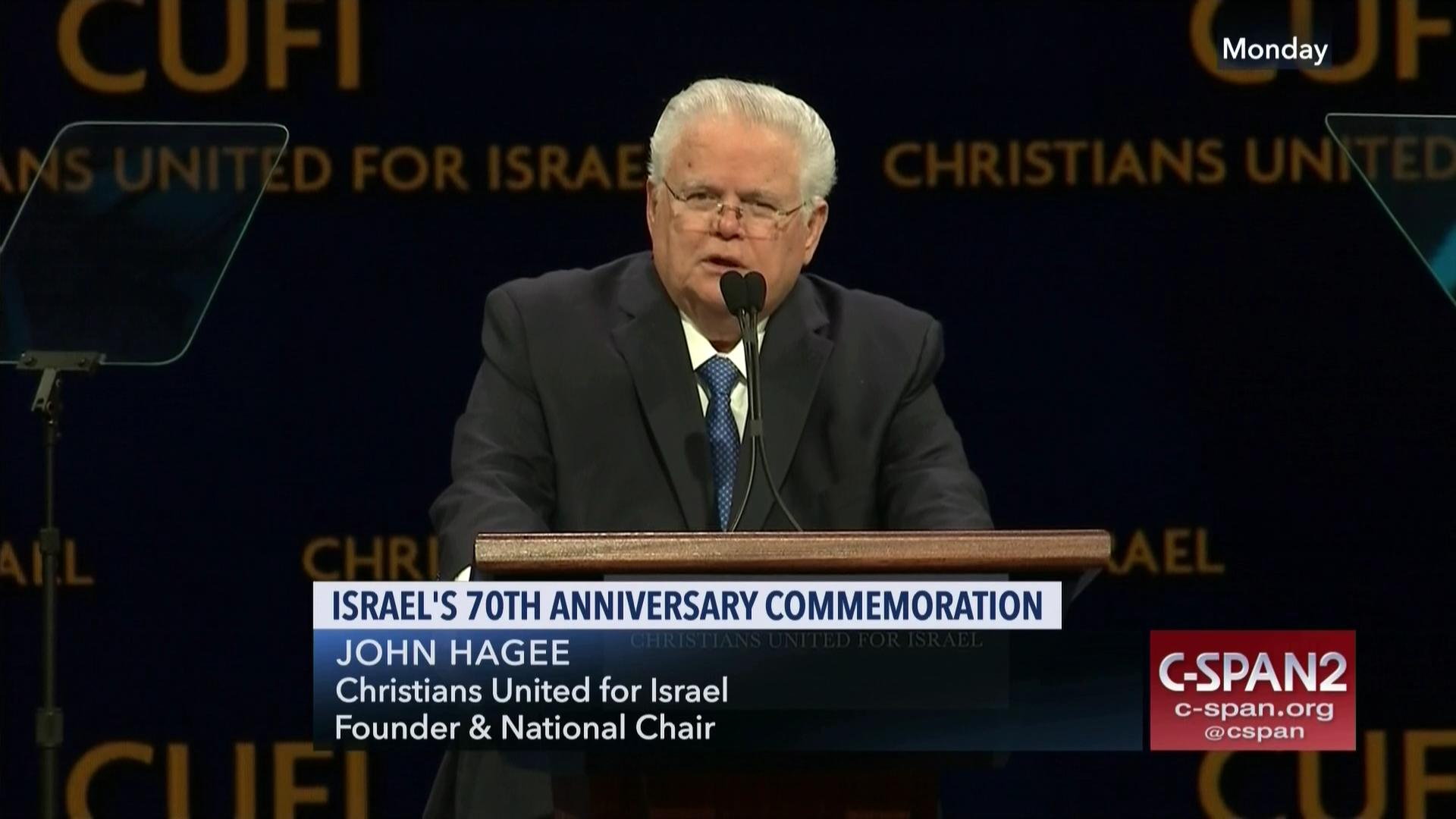 Israel's 70th Anniversary Commemoration, John Hagee
