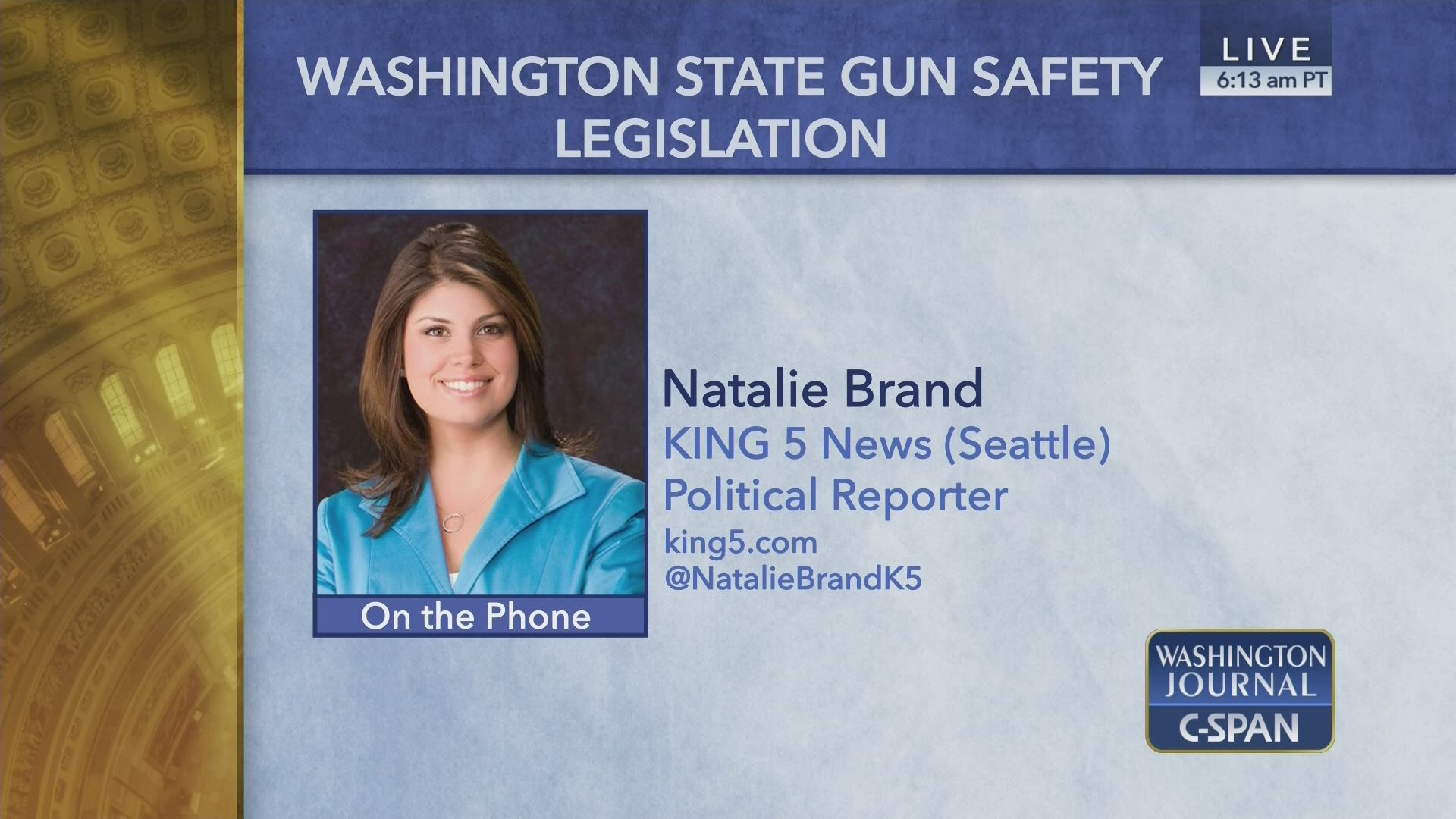 Natalie Brand on Washington State Gun Safety Legislation