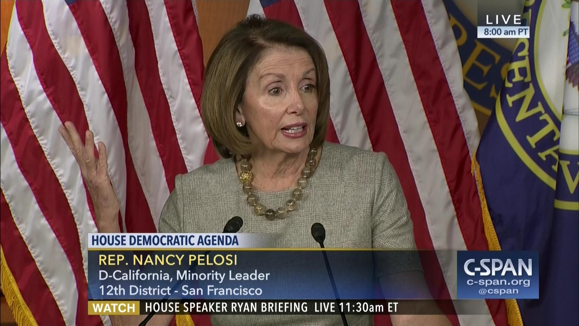 house minority leader pelosi says jeff sessions lied oath must