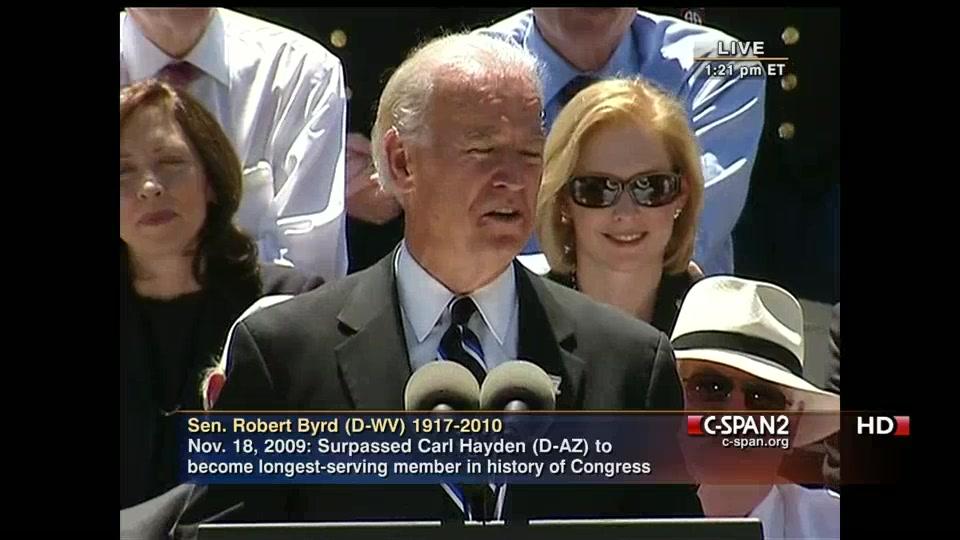 Vice President Biden Eulogizes Senator Byrd C Span Org