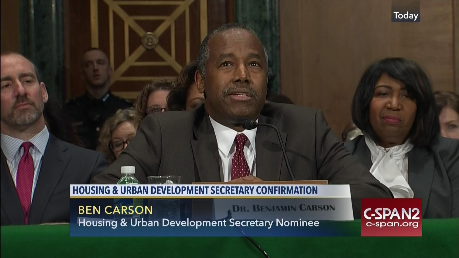 hud secretary dr ben carson addresses housing conference, apr 3
